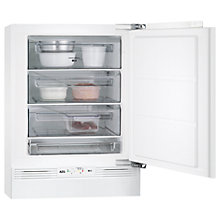 Buy AEG ABE68221AF Built-Under Freezer, A++ Energy Rating, 60cm Wide, White Online at johnlewis.com
