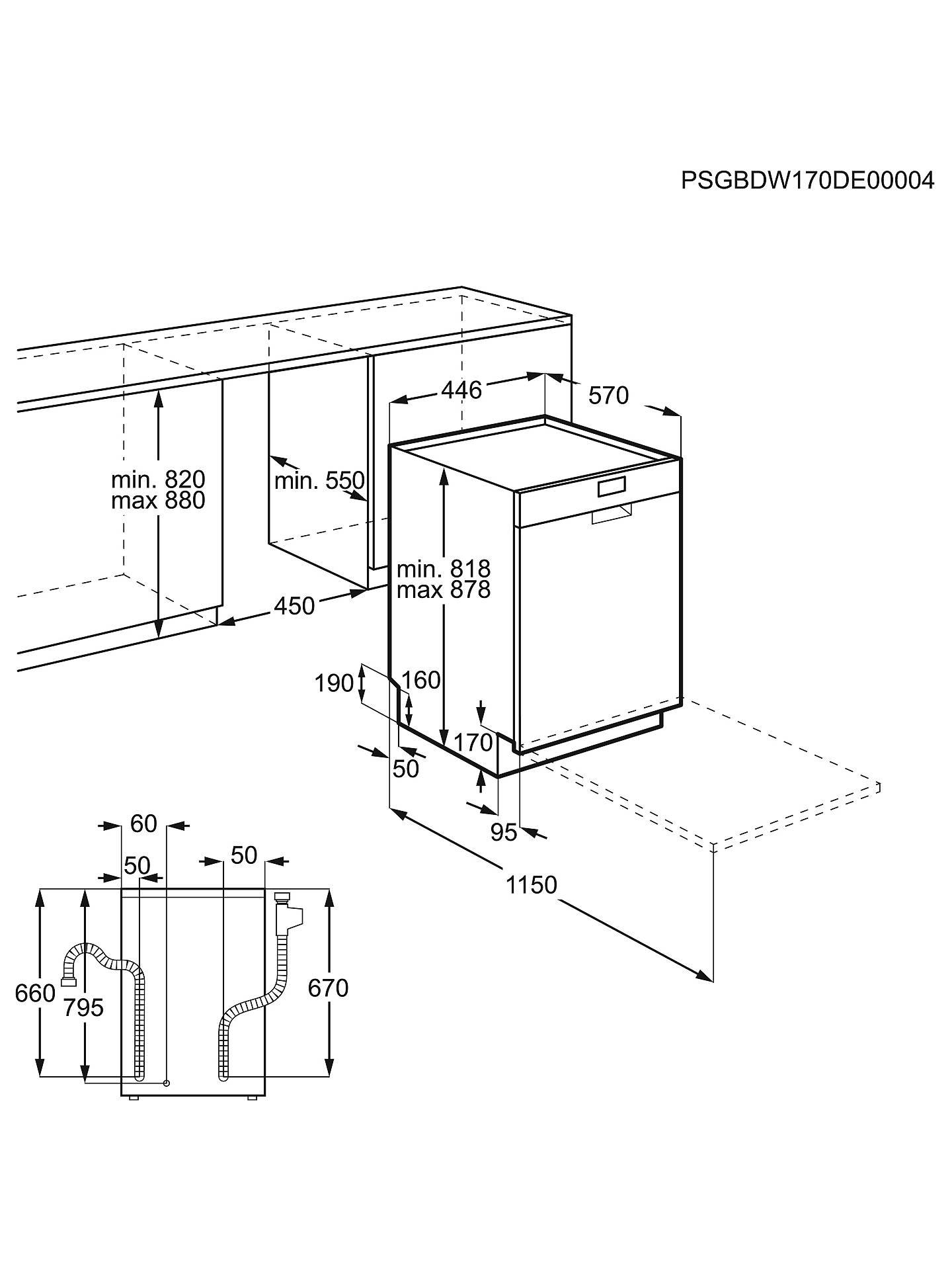 Aeg Ffb62400pw Freestanding Slimline Dishwasher White At John Lewis D61 Wiring Diagram Buyaeg Online