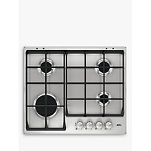 Buy AEG HG654351SM Integrated Gas Hob, Stainless Steel Online at johnlewis.com