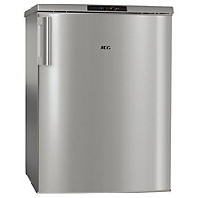 Buy AEG ATB81011NX Freestanding Freezer, A+ Energy Rating, 59cm Wide, Silver Online at johnlewis.com