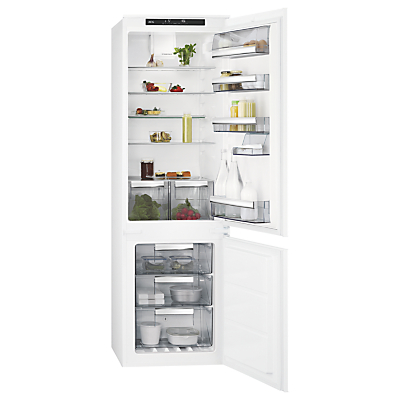 AEG SCE81816TS Integrated Fridge Freezer, A+ Energy Rating, 54cm Wide, White