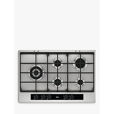 AEG HG755551SY Gas Hob, Stainless Steel