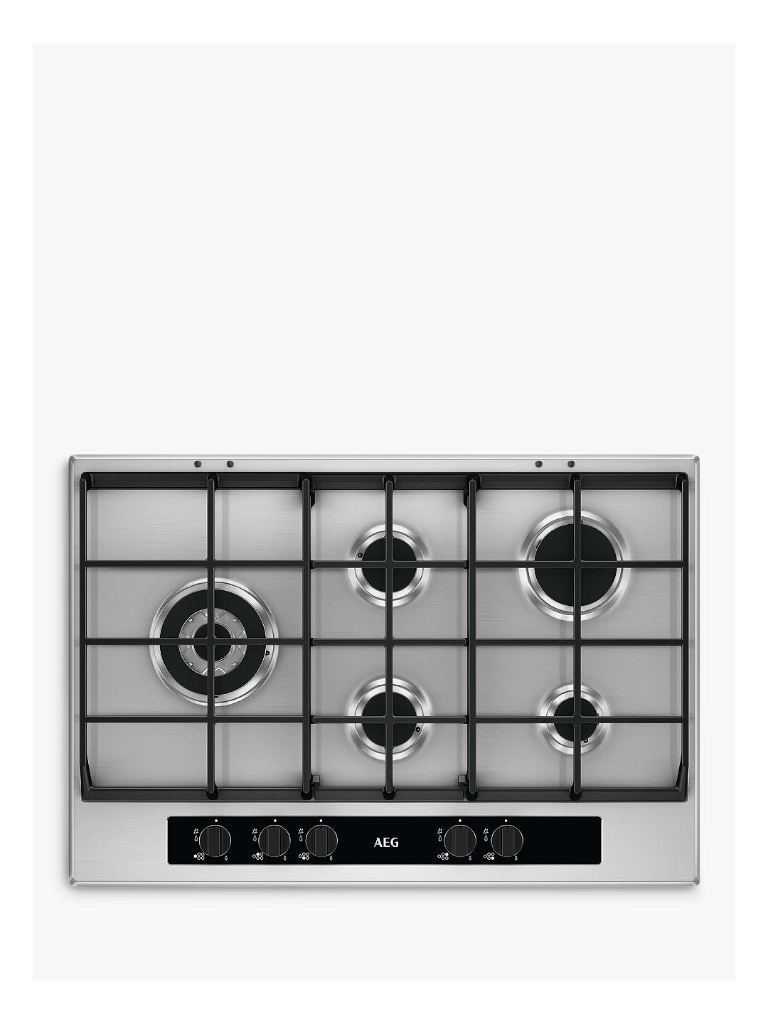 Buy AEG HG755551SY Gas Hob, Stainless Steel Online at johnlewis.com