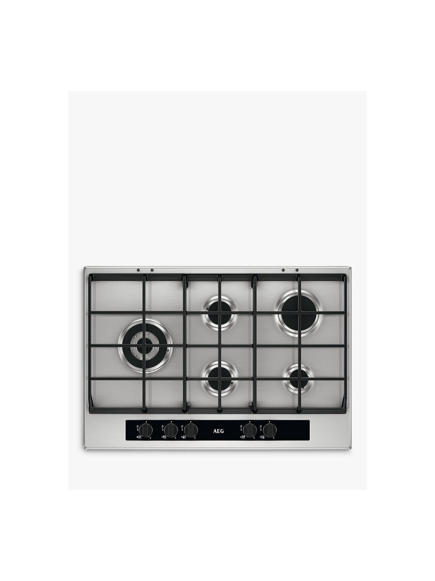 BuyAEG HG755551SY Gas Hob, Stainless Steel Online at johnlewis.com