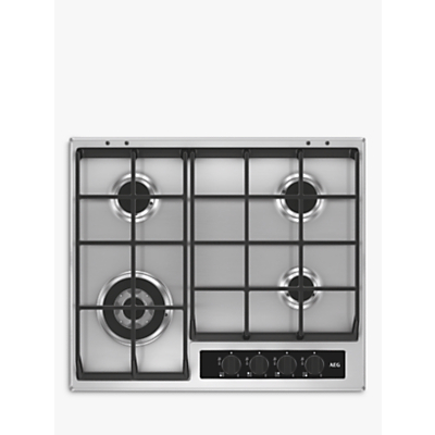 AEG HG65SY4551 Gas Hob, Stainless Steel
