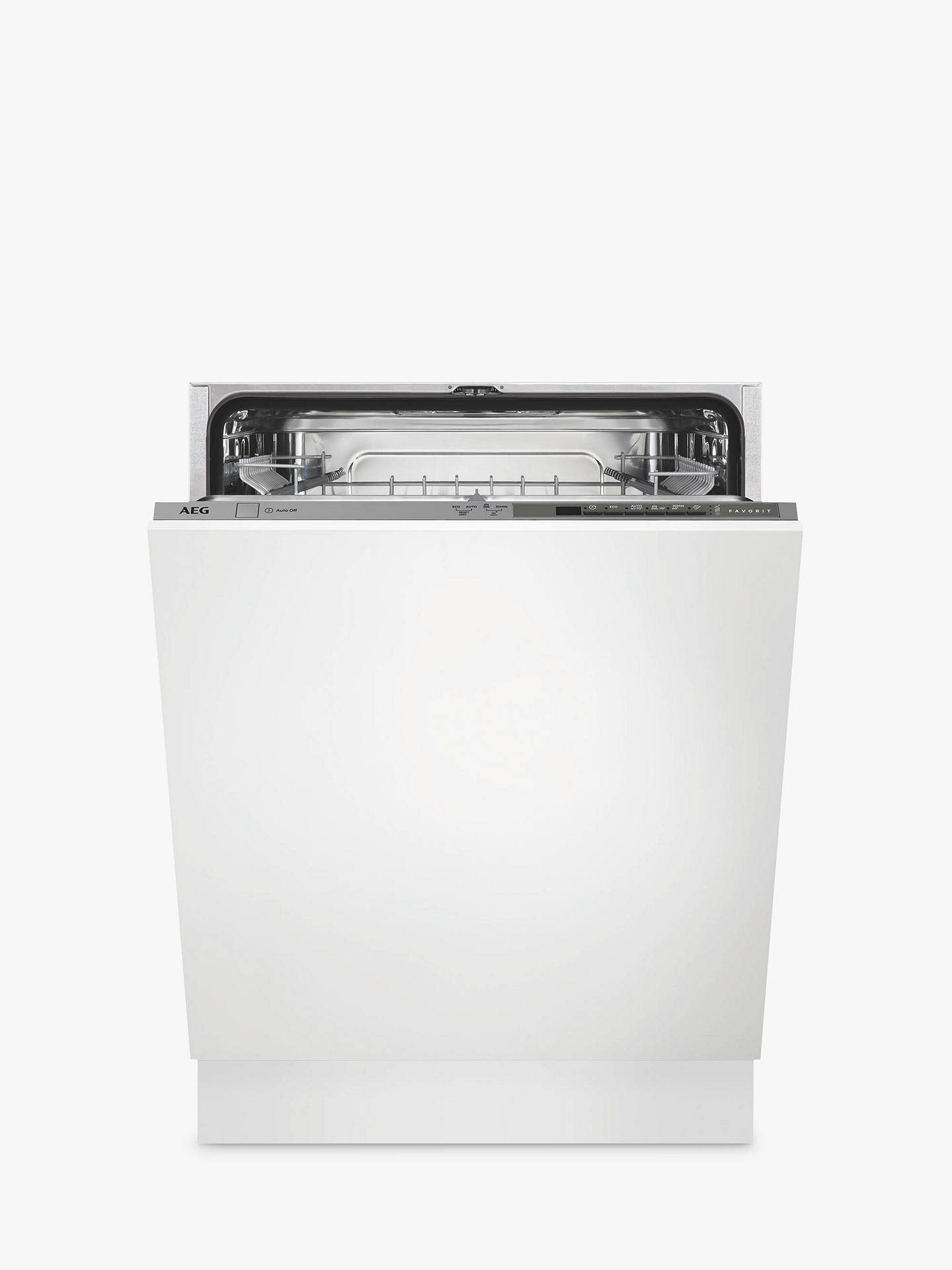 Buy AEG FSB41600Z Integrated Dishwasher, Stainless Steel Online at johnlewis.com