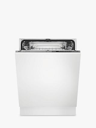 AEG FSB41600Z Integrated Dishwasher, Stainless Steel