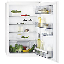 Buy AEG SKE68811AS Undercounter Integrated Fridge, A++ Energy Rating, 54cm Wide, White Online at johnlewis.com