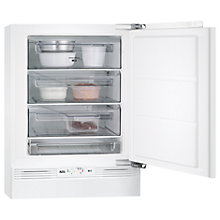 Buy AEG ABB68211AF Built-Under Freezer, A+ Energy Rating, 60cm Wide, White Online at johnlewis.com