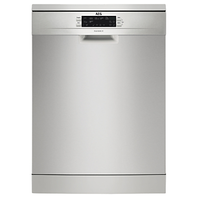 AEG FFE63700PM Semi-integrated Dishwasher, Stainless Steel