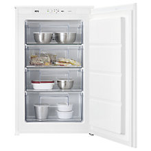 Buy AEG ABE68821LS Built-Under Freezer, A+ Energy Rating, 54cm Wide, White Online at johnlewis.com