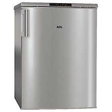 Buy AEG ATB81121AX Freestanding Undercounter Freezer, A++ Energy Rating, 60cm Wide, Silver Online at johnlewis.com