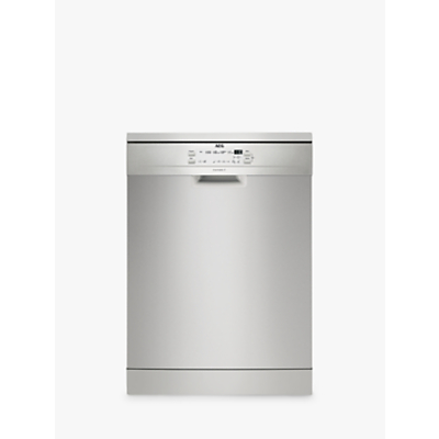 AEG FFB53600ZM Slimline Freestanding Dishwasher, Stainless Steel