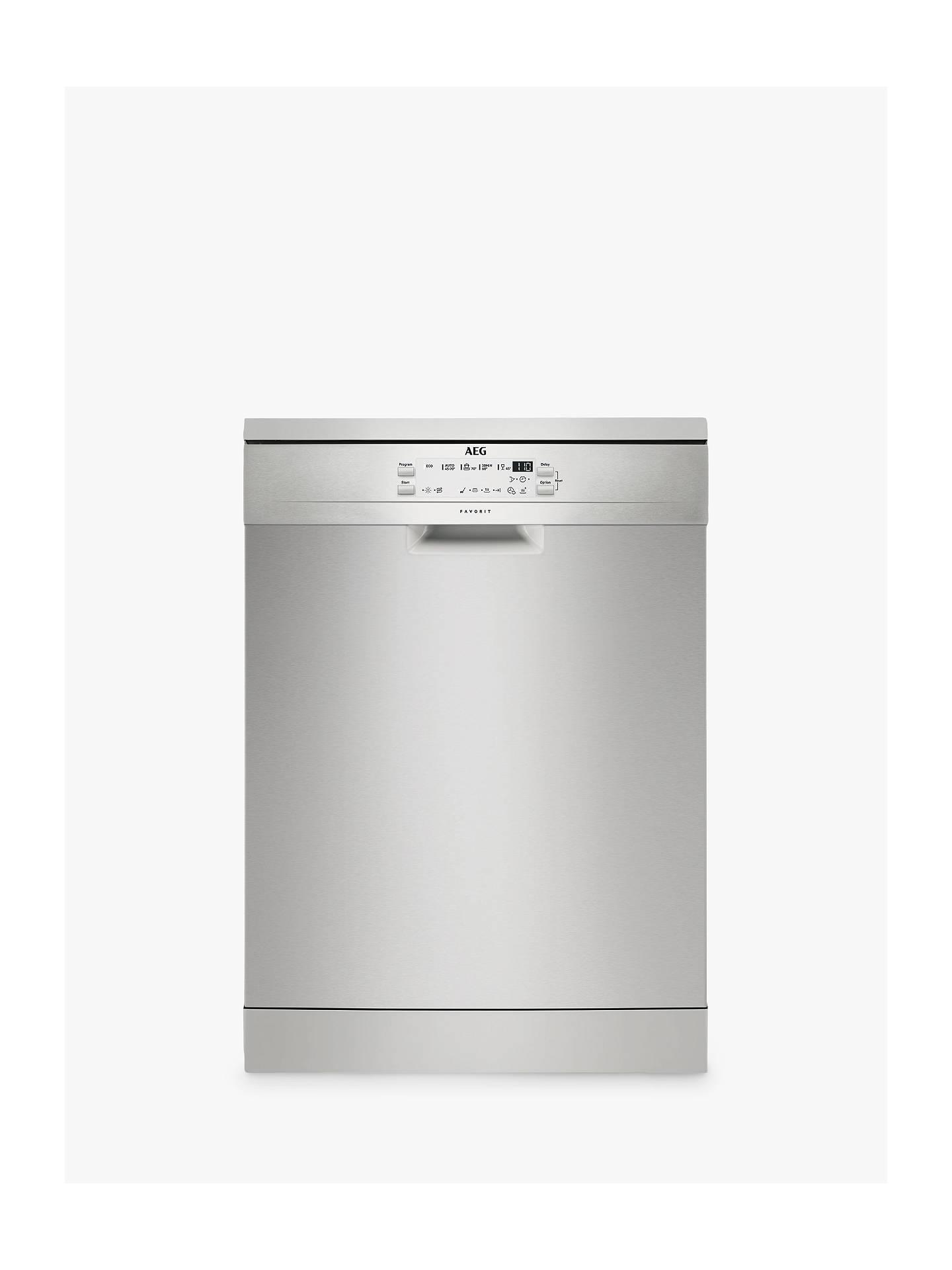Aeg Ffb53600zm Freestanding Dishwasher Stainless Steel At John