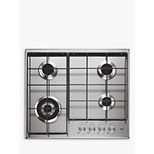 Buy AEG HG644351SM Integrated Gas Hob, Stainless Steel Online at johnlewis.com
