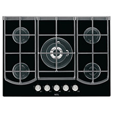 Buy AEG HG753431NB Gas Hob, Black Online at johnlewis.com