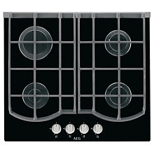 Buy AEG HG653431NB Gas Hob, Black Online at johnlewis.com