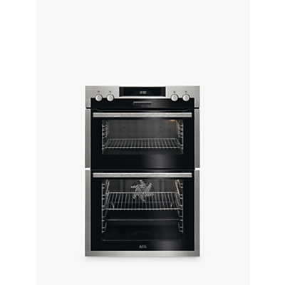 Image of AEG DCS431110M Built-In Multifunction Double Electric Oven, Stainless Steel