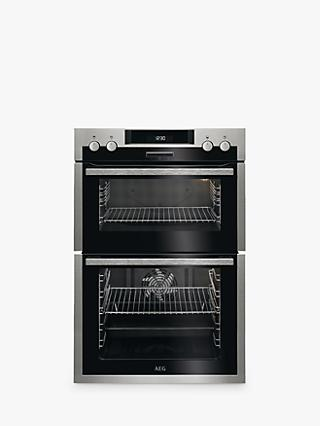 AEG DCS431110M Built-In Multifunction Double Electric Oven, Stainless Steel