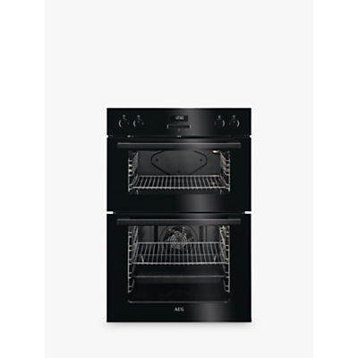 Image of AEG DEE431010B Built-In Multifunction Double Electric Oven, Black