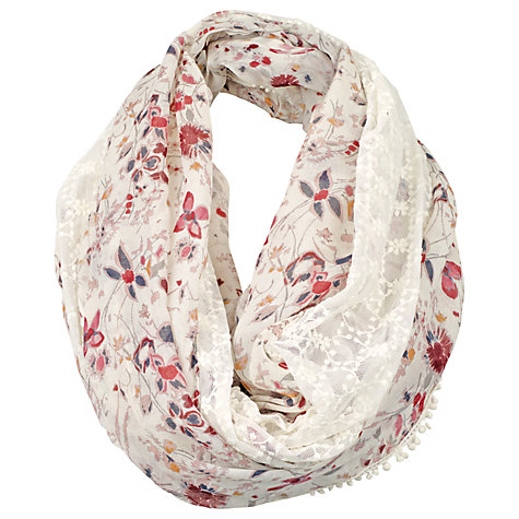 Buy Fat Face Ella Floral Lace Snood, Ivory/Multi Online at johnlewis.com