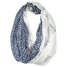 Buy Fat Face Pippa Batik Dove Snood, Navy/White Online at johnlewis.com