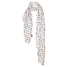 Buy Fat Face Painterley Butterfly Print Scarf, Ivory/Multi Online at johnlewis.com