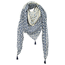 Buy Fat Face Darcy Floral Square Scarf, Navy Online at johnlewis.com