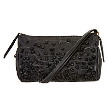 Buy Unmade Petunia Leather Clutch Bag, Charcoal Online at johnlewis.com
