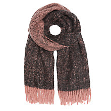 Buy Unmade Melange Furry Scarf, Blush Online at johnlewis.com
