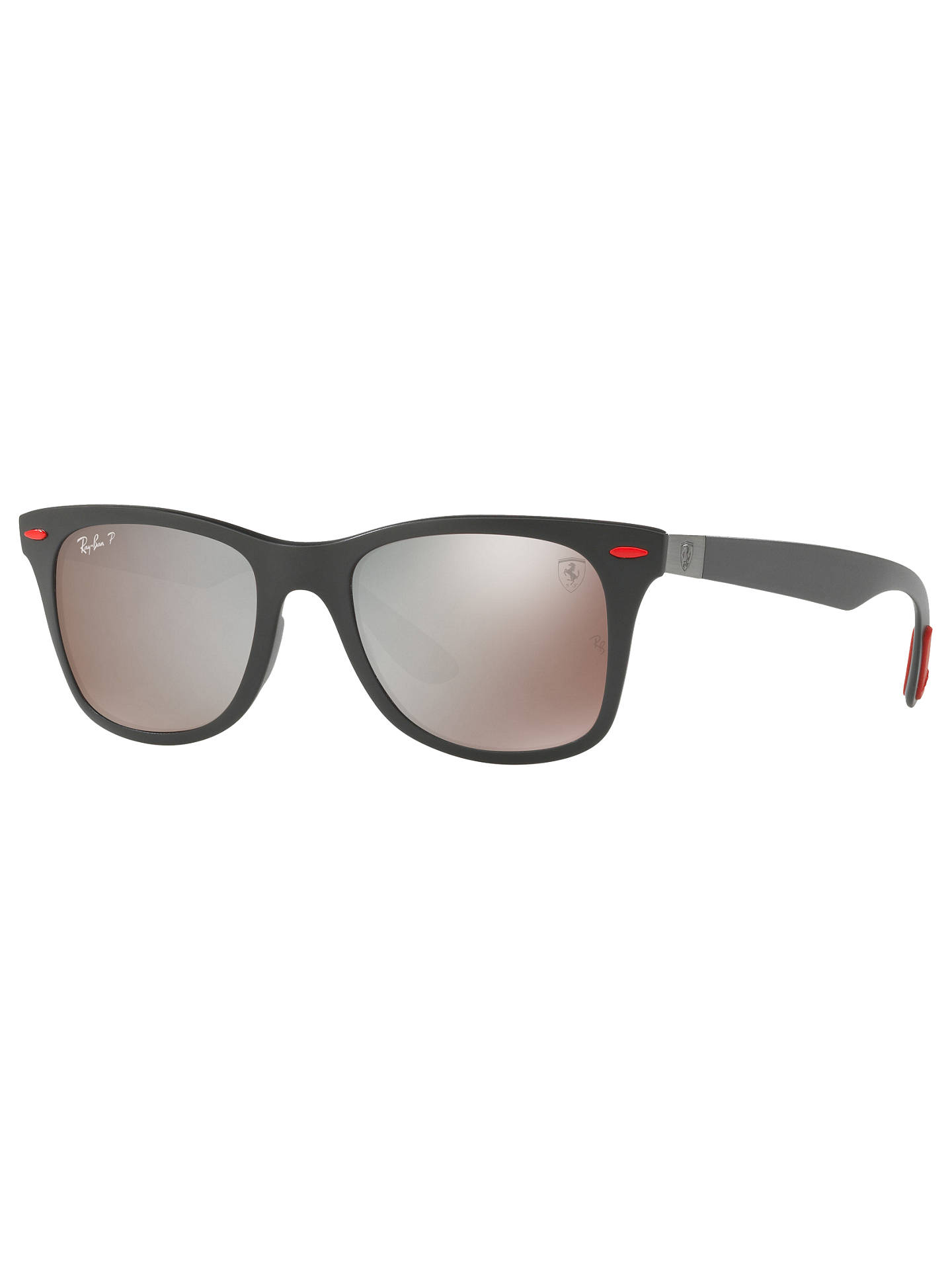 295bd561e86 Ray-Ban RB4195M Polarised Scuderia Ferrari Wayfarer Sunglasses at ...