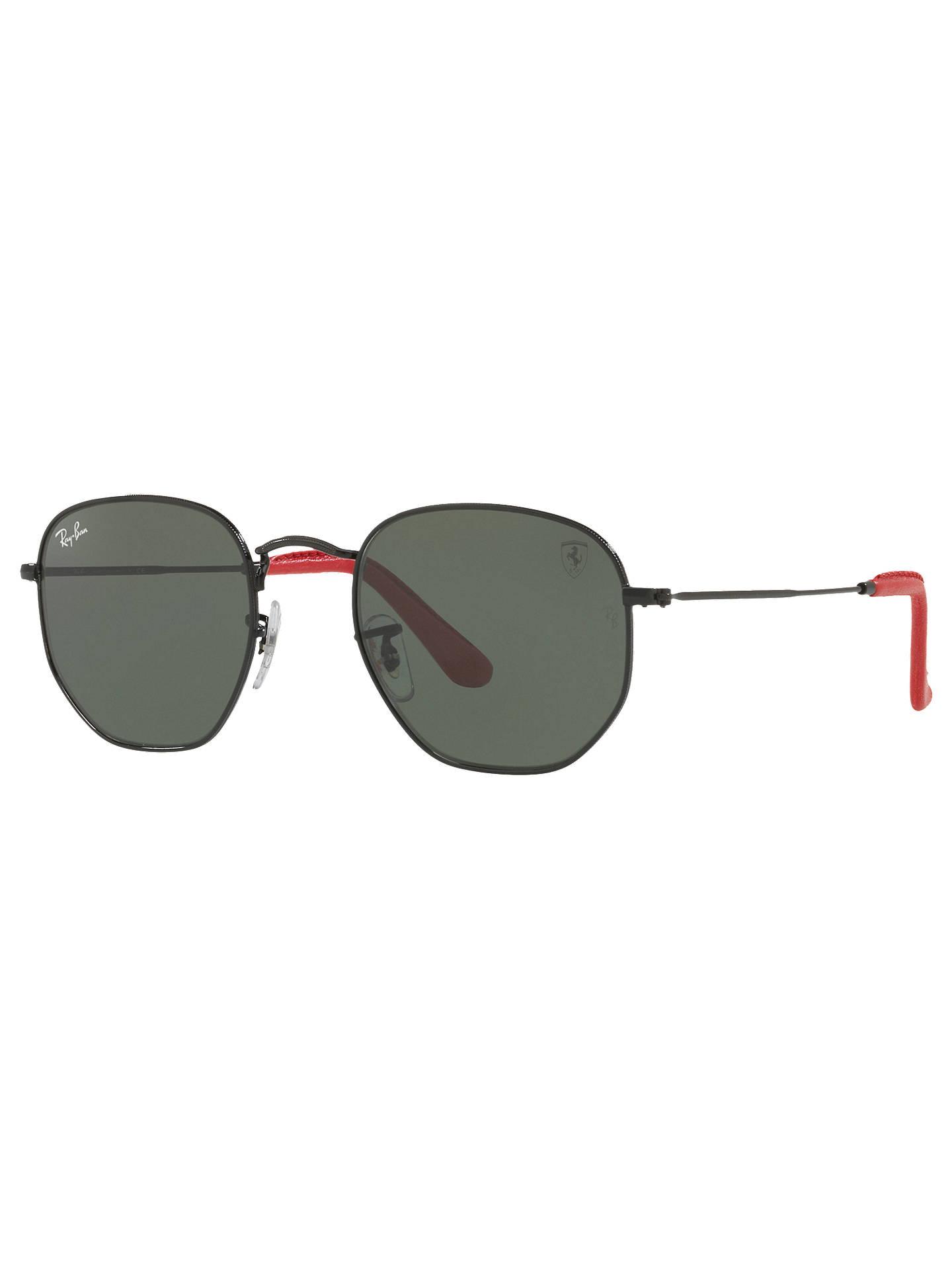 e83480f2ba Ray-Ban RB3548 Scuderia Ferrari Hexagonal Flat Lens Sunglasses ...