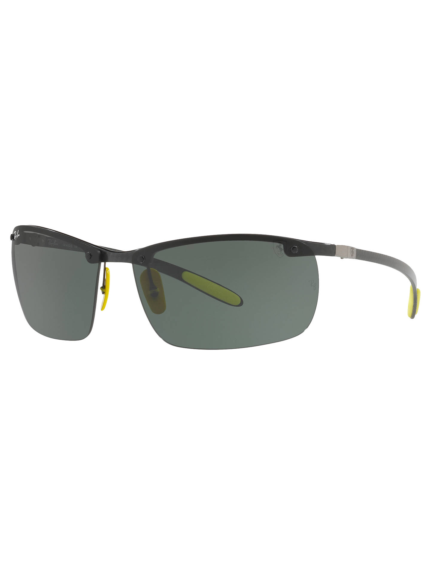 9621f4de9617 Buy Ray-Ban RB8305M Scuderia Ferrari Wrap Sunglasses, Black/Grey Online at  johnlewis ...