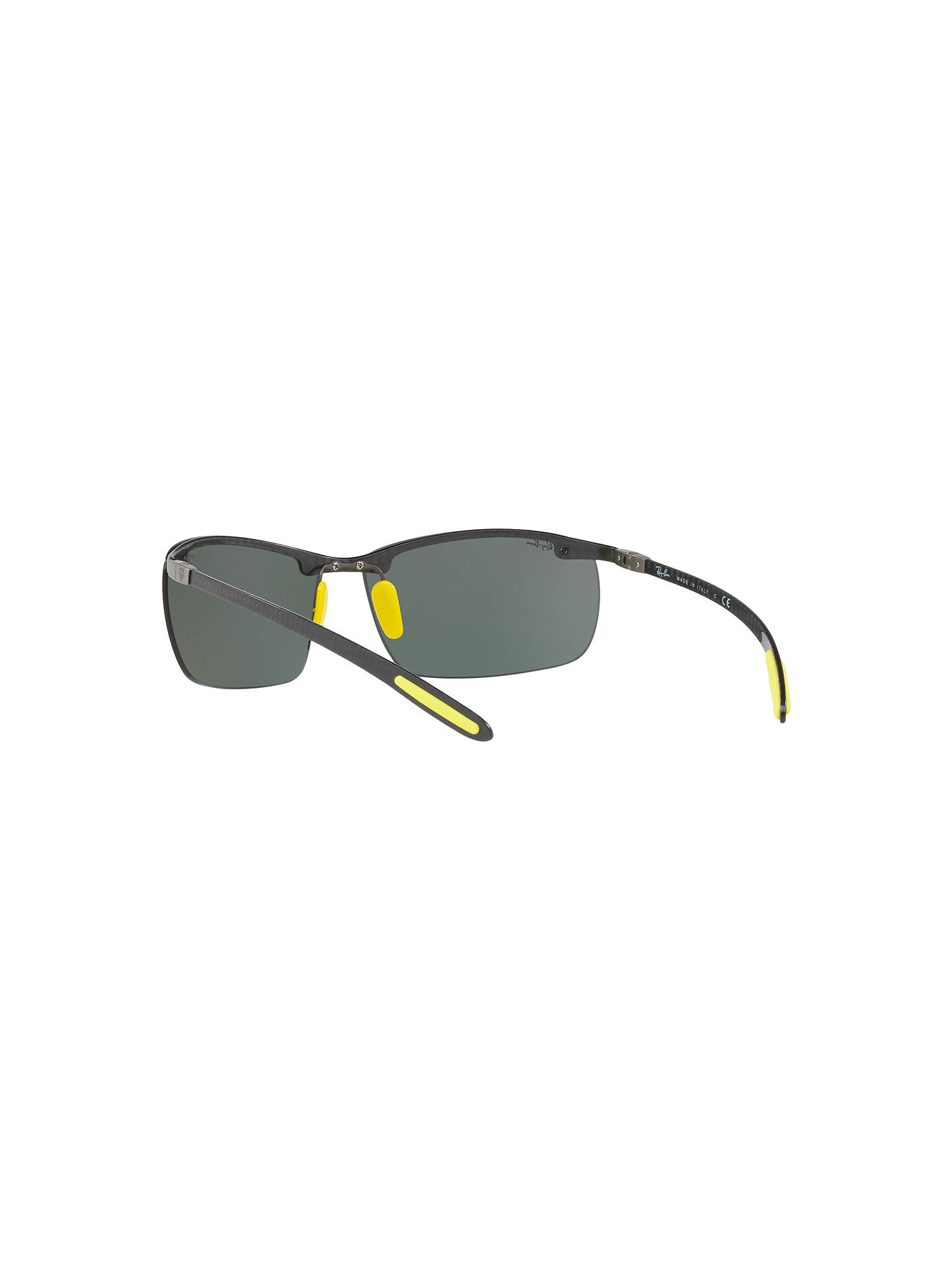 51fdc272aaac ... Buy Ray-Ban RB8305M Scuderia Ferrari Wrap Sunglasses, Black/Grey Online  at johnlewis ...