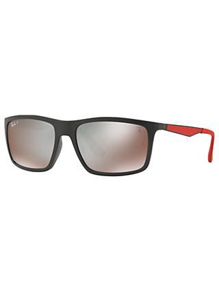 dbabef295f Ray-Ban RB4228M Scuderia Ferrari Polarised Rectangular Sunglasses