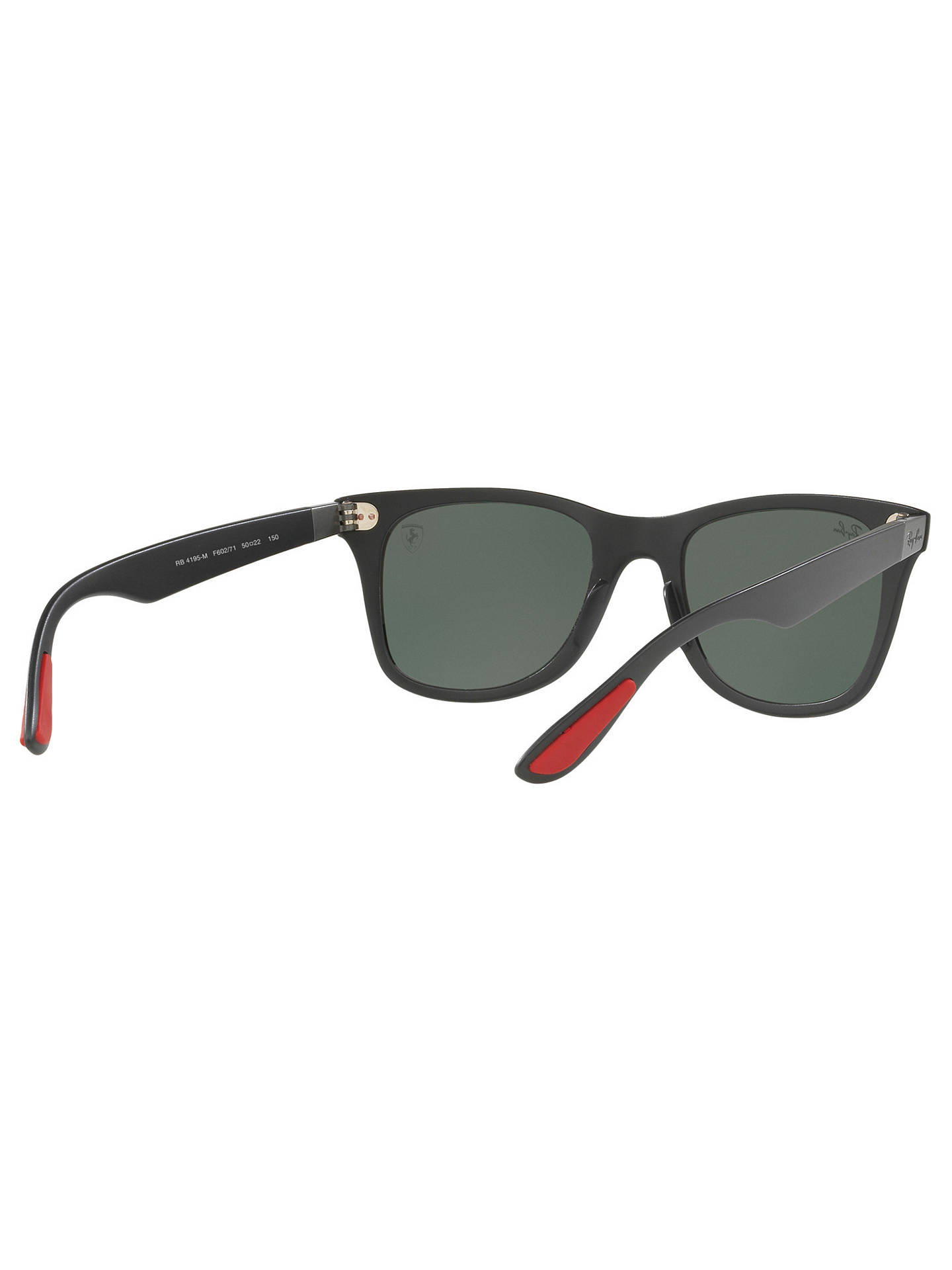 d9b1815a2d3 Ray-Ban RB4195M Scuderia Ferrari Wayfarer Sunglasses at John Lewis ...