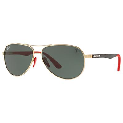 Ray-Ban RB8313M Scuderia Ferrari Aviator Sunglasses