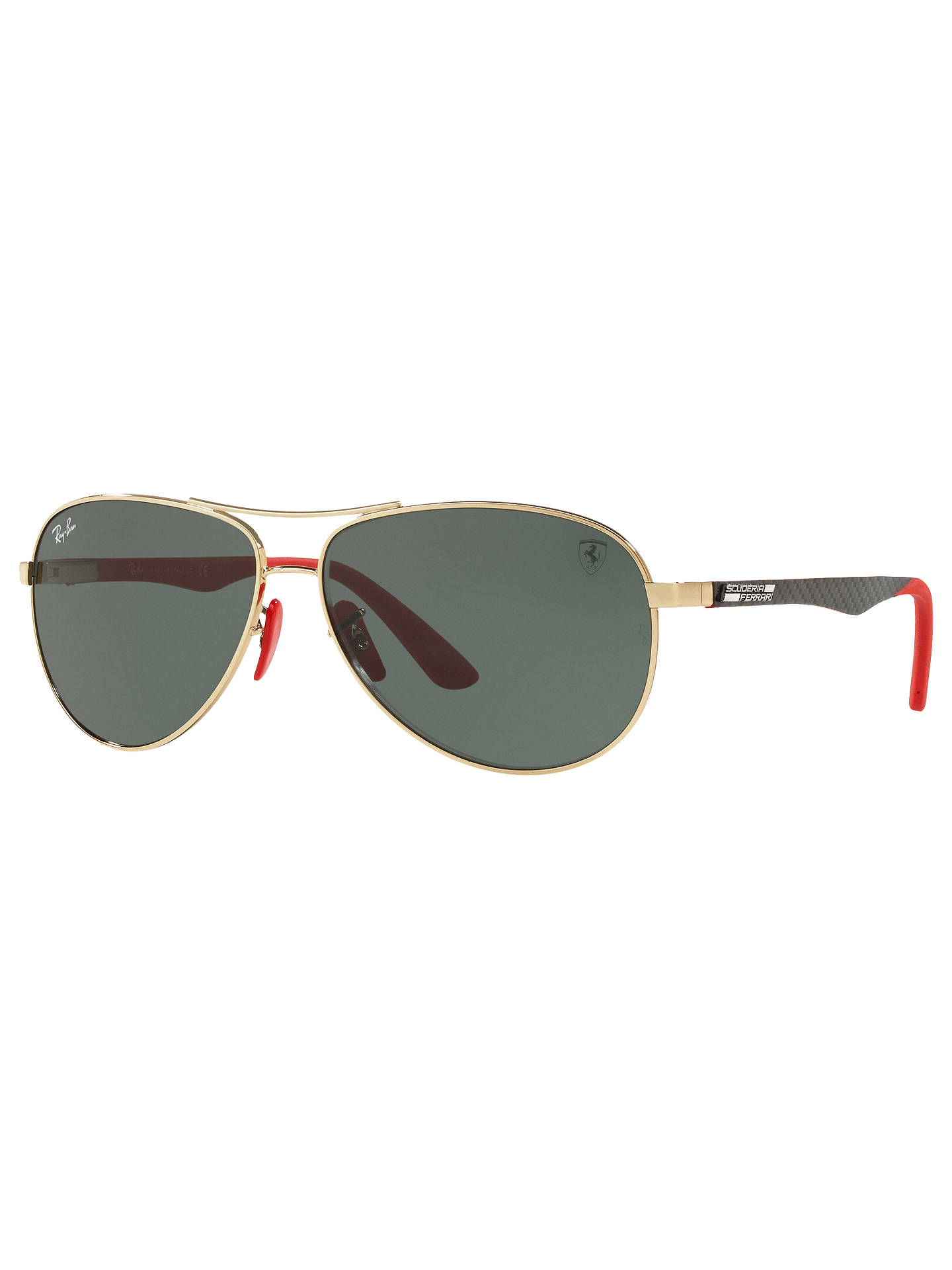 5ee5dabb4dc Ray-Ban RB8313M Scuderia Ferrari Aviator Sunglasses at John Lewis ...