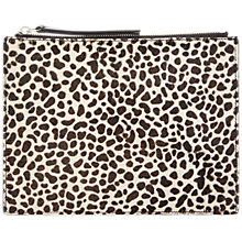 Buy Jaeger Animal Print Leather Clutch Bag, Multi Online at johnlewis.com