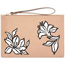 Buy Jaeger Florence Leather Clutch Bag Online at johnlewis.com
