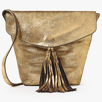 AND/OR Mila North/South Leather Flapover Across Body Bag