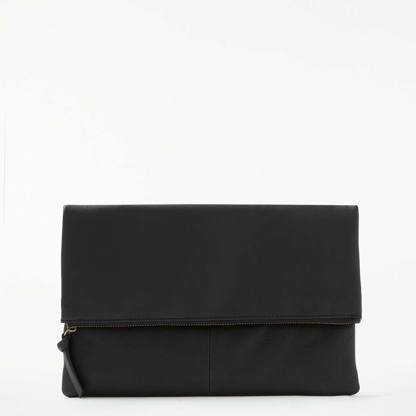 And/Or Madi Leather Clutch Bag, Black by And/Or