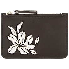 Buy Jaeger Florence Leather Coin Purse, Black Online at johnlewis.com