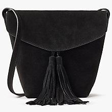 Buy AND/OR Mila North/South Leather Flapover Across Body Bag Online at johnlewis.com