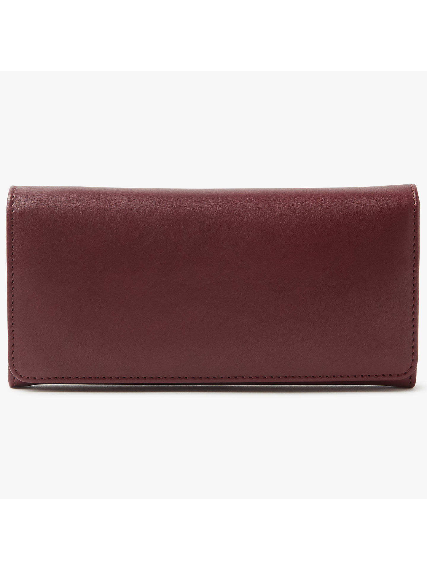BuyJohn Lewis Lizzie Leather Slim Continental Purse, Purple Online at johnlewis.com