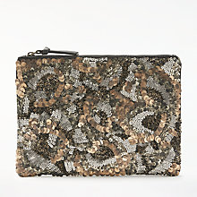 Buy AND/OR Marla Distressed Beaded Clutch, Multi Online at johnlewis.com