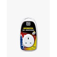 Buy Go Travel USB UK to Australia/China Travel Adaptor Online at johnlewis.com
