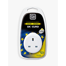 Buy Go Travel USB UK to EU Travel Adaptor Online at johnlewis.com
