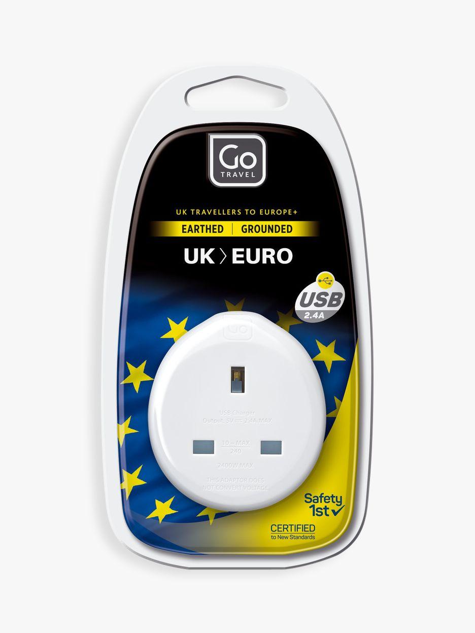 Go Travel Go Travel USB UK to EU Travel Adaptor