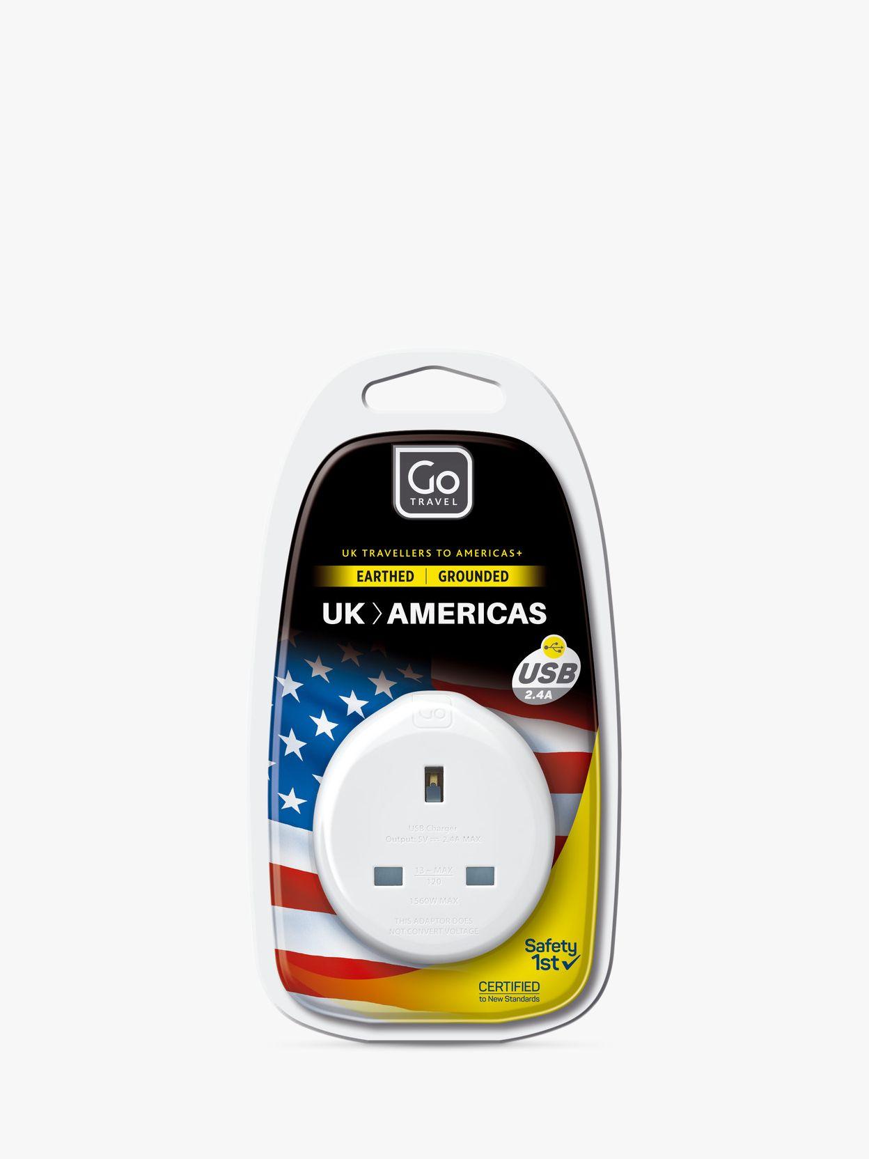 Go Travel Go Travel USB UK to USA Travel Adaptor